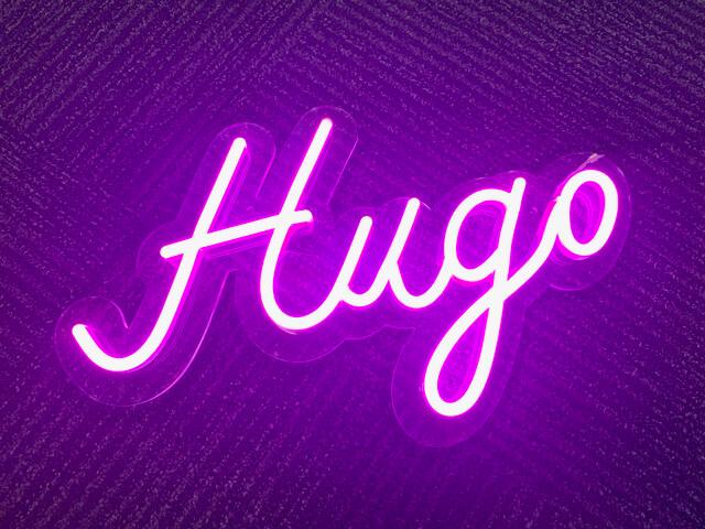 Neon reclame hugo